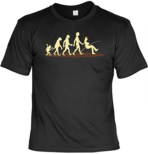 Modicana® T-Shirt Evolution - Angler - lustiges Funshirt Angeln