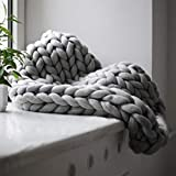 Bequem warm halten weiche dicke Linie Riesengarn gestrickte Decke handgefertigte manuelle Weben Fotografie Requisiten Decken