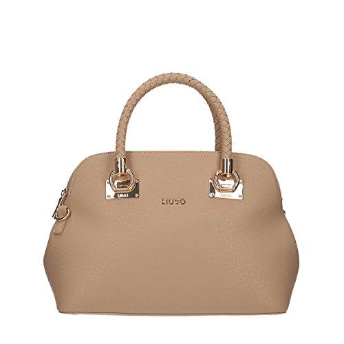 LIU JO ANNA SHOPPING BAG N67083E0087-22222 Black beige_beige, beige