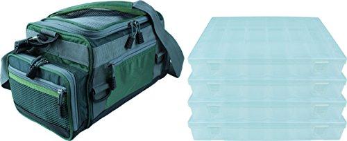 Angeltasche Mit Durchsichtigen verschließbaren Deckel und 4 Zubehör Boxen