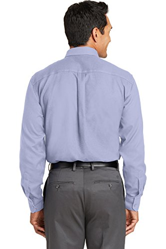 Rot House Drop Schiff – rh76 bügelfrei Diamond Dobby Shirt Dress Shirt Blue