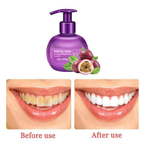 QHJ Zahnpasta Weisse Zähne, Fleckenentfernung Zahnweiß Zahnpasta Kampf Blutung Gums Zahnpasta (Lila)