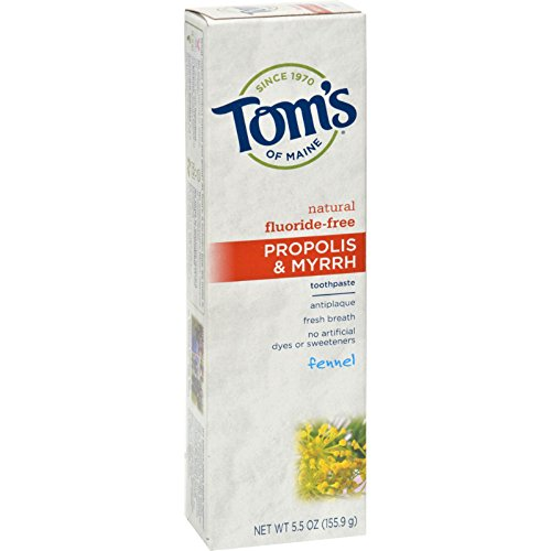 Tom's of Maine Propolis & Myrrh Natural Fluoride Free Toothpaste Fennel 160 ml (Zahnpasta)