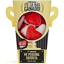 Designer Souvenir - Regalo San Valentín | Pack de Chuches Para Sorprender a Tu Pareja | Corazones de Gominola | Detalle Original