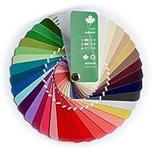 Paleta de color en formato abanico para el color tipo Primavera-Otoño (Soft Autumn) con 35 colores para asesoría imagen