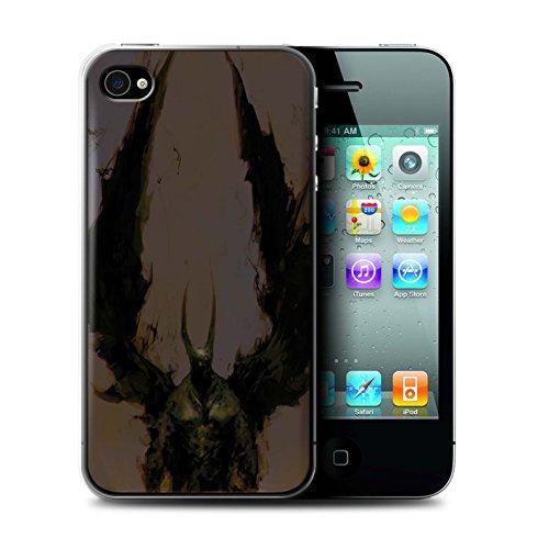 Offiziell Chris Cold Hülle / Case für Apple iPhone 4/4S / Ungeheuer/Troll Muster / Wilden Kreaturen Kollektion Teufel/Tier