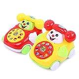 Beito 1 stücke Kreative Pull Trompete Smiley Telefon Baby Kleinkind Training Spielzeug (Zufällige Farbe)