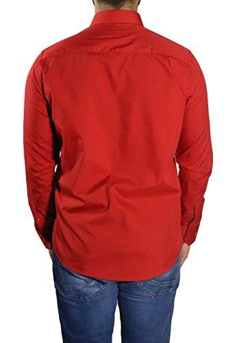 Herren Hemden leicht tailliert MUGA Rot