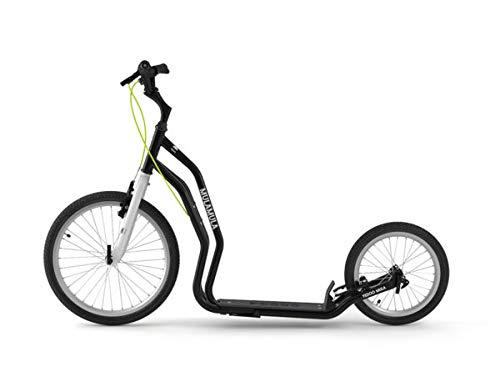 Yedoo Tretroller für Erwachsene Mula in Black - Lernlaufrad mit Reflektoren