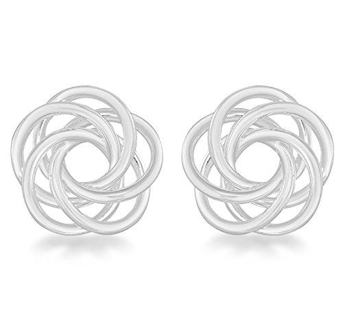 Tuscany Silver Ohrstecker Sterling Silber Flach Swirl Knoten International Silver Swirl