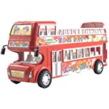 Lukas City Bus For Boys, Push And Go Toy For Kids, Toy Bus, Bus Toy, Double Decker Bus For Kids, Red