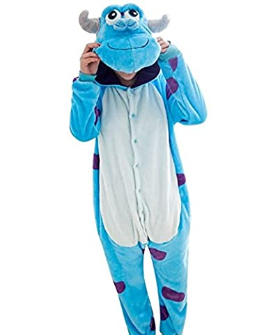 Casa Pyjama Tieroutfit Schlafanzug Tier Onesies Sleepsuit mit Kapuze Erwachsene Unisex Overall Halloween Kostüm (Jumpsuit Kostüm)
