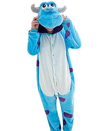 Kostüme Für Frauen Adult Halloween (Casa Pyjama Tieroutfit Schlafanzug Tier Onesies Sleepsuit mit Kapuze Erwachsene Unisex Overall Halloween Kostüm)