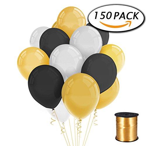 150-pack-or-blanc-noir-ballons-de-latex-partie-12-pouces-avec-curling-ruban-pour-les-decorations-de-