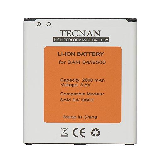 Tecnan batería para Samsung Galaxy S4i9500, i9505LTE, i9506sustituye a BE-B600BE, EB EB-B600BC funda batería de repuesto battery funda batería de ion de litio 2600mAh batería S4–con NFC