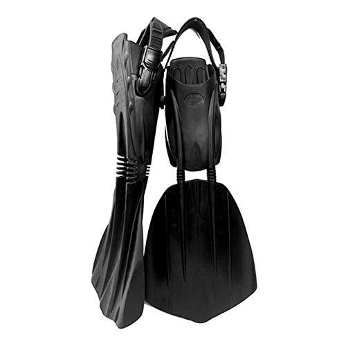 Professional Aletas Regulable Resistente diseño de quilla Resistente Suave y Confortable para Buceo, Snorkeling y Natación, Unisex Adulto,L/XL
