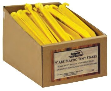 Texsport Tent Stake, Plastic 9 in., 50 Unit Buckets, by Texsport