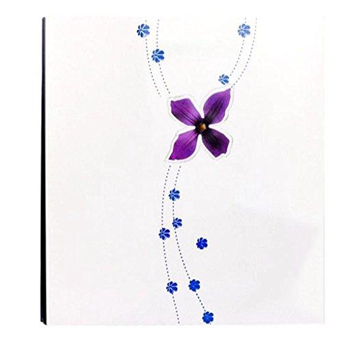 FOOHAO- Album de pâte bricolage créatif, Album de famille d'affaires en bois peint, 20 pages (40 Surface) (Couleur : White card)