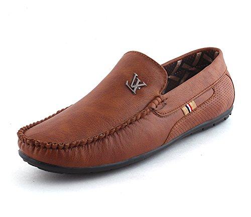 LeatherKraft Men's Brown Loafers-10 UK/India (44 EU)(LKRVK_BRN_10)