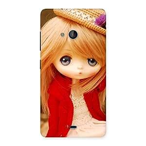 Impressive Tiny Bride Girl Multicolor Back Case Cover for Lumia 540