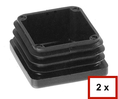 Quadratstopfen 80x80 mm Grau Kunststoff Lamellenstopfen Abdeckkappe 1 Stck