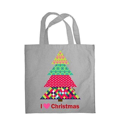 Einkauf 0080 Weihnachten Fashion Weihnachtsbaum Colour I Love Tragetasche Strand Grau Fitness xPzwnqXO