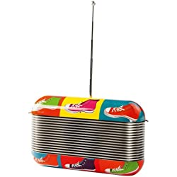 Clipsonic RA1042BA - Radio AM y FM, diseño moderno, multicolor (importado)
