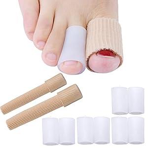 Welnove Gel Zehenschutz X8 Zehenkappen Weiches Zehen Ärmel Lindern Sie Schmerzen für die Zehen Reibung, Schützen Sie Zehe vor Kallus, Blasen und Clavus