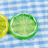 HITSAN INCORPORATION Artificial Lemon Slices Fruit Model for DIY Decoration Home Party for Photo Studio Photography Background Accessories Color Green Slices