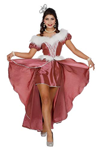 narrenkiste W4462-A-46 alt rosa Damen Rokoko Kostüm Schneekönigin Eisprinzessin Gr.46