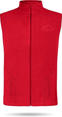 normani Herren Fleeceweste 300 g/m² Body Warmer mit Seitentaschen Farbe Rot Größe L
