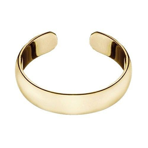 14k-gold-over-sterling-silver-4mm-polished-plain-adjustable-size-toe-ring-by-wealth-store