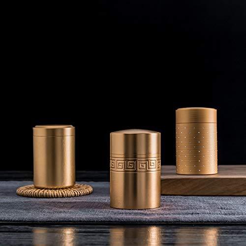 GBCJ Teeservice Titanlegierung Mini-Teekanne, Teekiste, Metall tragbare Reise Teekanne, Edelstahl versiegelten Tee Geschenkbox, leere Box.