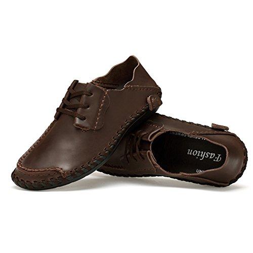 Eagsouni Homme Mocassins Chaussures Confort Classique Chaussures de ville à lacets Café