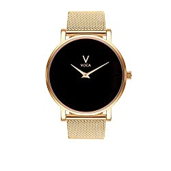 Acclaro 40mm Black and Gold with Gold mesh strap