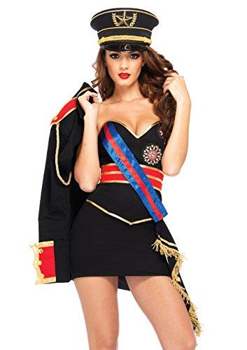 Leg Avenue 85296 - Diva Dictator Kostüm Set, 4-teilig, Größe S, schwarz (Zusammen Kostüm)