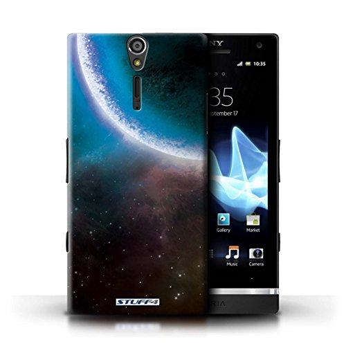 Kobalt® Imprimé Etui / Coque pour Sony Xperia S/LT26i / Planète Verte conception / Série Cosmos Éclipse Bleu
