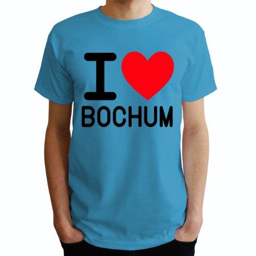 I love Bochum Herren T-Shirt Blau