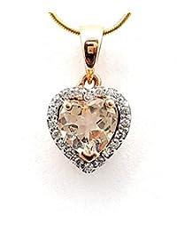 Anhänger Herz aus 585 Echt Gold Rotgold 25x35mm Halsschmuck Damen Goldanhänger