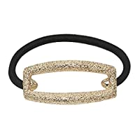 Haodou Hollow Elastic Hair Ties Bobbles Bow Rhinestone Ponytail Holders Rubber Bands Stretchy Hair Ropes Hair Bands Hair Accessories for Women Girls Kids Men