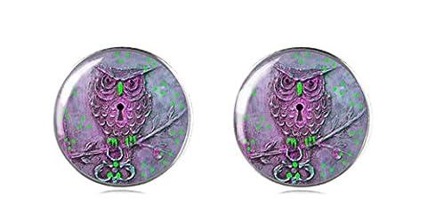 Sterling Silber 925Eule Ohrring Ohrstecker Handgefertigt von tizi Schmuck Perfekte