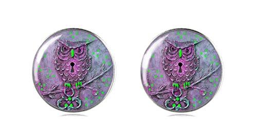 Sterling Silber 925Eule Ohrring Ohrstecker Handgefertigt von tizi Schmuck Perfekte Geschenk oder für eine Party für Damen und Mädchen