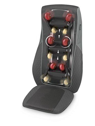 Medisana 88921 MC 824 Shiatsu-Massagesitzauflage und Rollenmassage entlang der Wirbelsäule mit zuschaltbarer Wärmefunktion