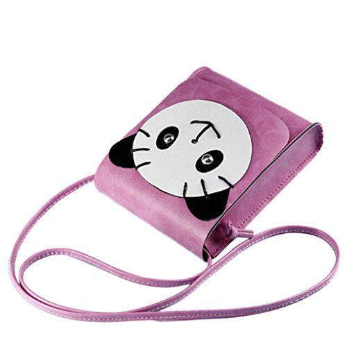 Transer Artificial leather Handbags & Single Shoulder Bags Women Zipper Bag Girls Hand Bag, Borsa a spalla donna Coffee 15cm(L)*18(H)*5cm(W) Hot Pink
