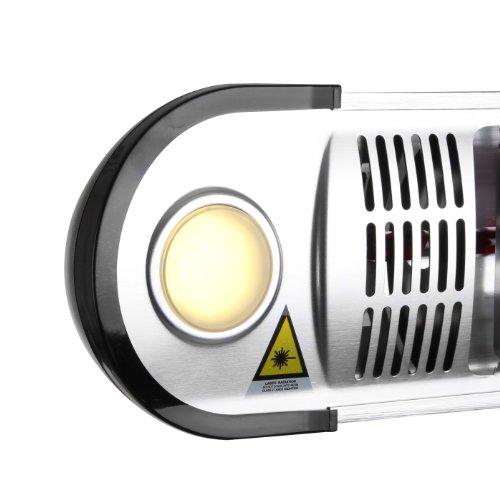 Primrose Firefly 1.500 Watt Infrarot-Heizstrahler (Halogen) Terrassenheizung, Wandmontage, inkl. LED-Beleuchtung und Fernbedienung - 4
