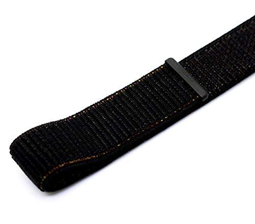 iGuard 3D Premium Nylon Armband für Apple Watch 1 2 3 4-38mm / 40mm - Schwarz - Sport Loop/Stoff/Loop/Loop Armband/Klettverschluss/Nylonloop/Spotarmband/Sport Armband -