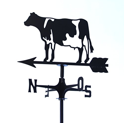 Wetterfahne markiert Wind Kuh. Hergestellt In Italien.