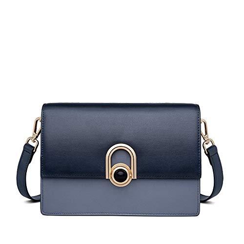 Kieuyhqk Bag Female Messenger Bag Einfache Mini-Handtasche SchultertascheDamen Casual Handtasche Schulter-Handtasche (Color : Blue)
