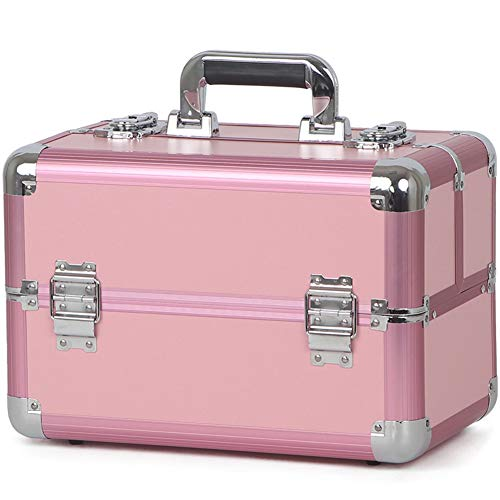 WANGXN Make-up Train Case Professional Nail Schmuck Portable Case Storage Box Kosmetik Box Vanity Rosa Vanity Case