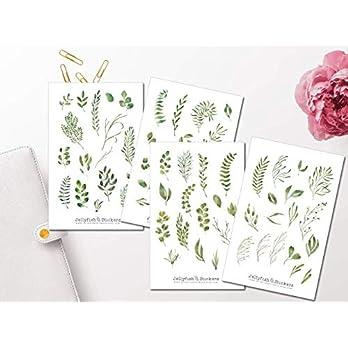 Botanic Sticker Set | Aufkleber Blumen | Journal Sticker | Florale Sticker